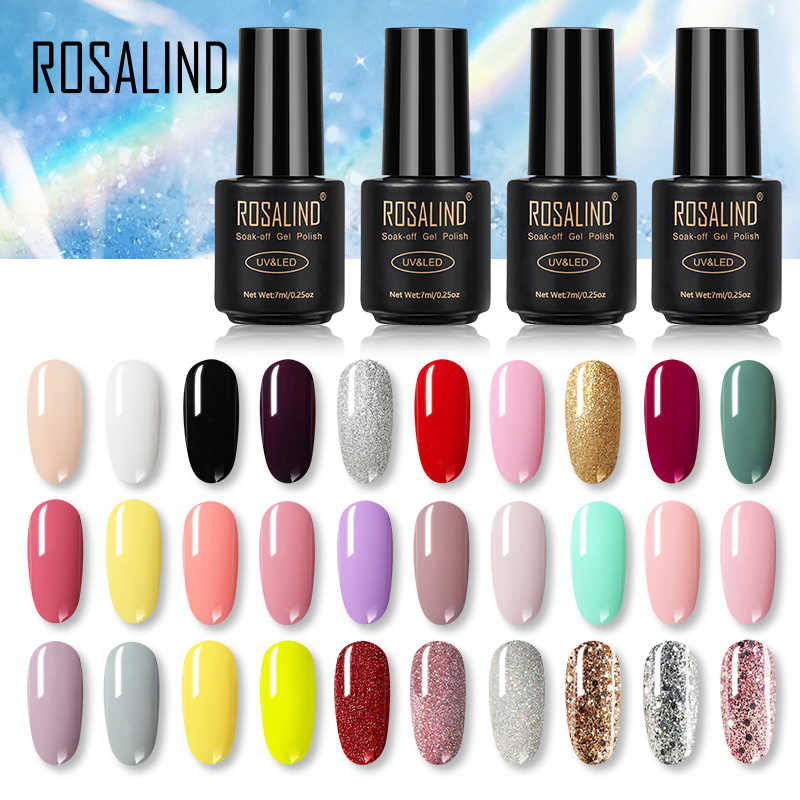Rosalind Gel Nagellak Set Alle Voor Manicure Top Coat Uv Led Gel Vernis Losweken Semi Permanente Vernis Lak voor Nail Art