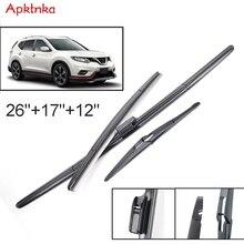 Apktnka Windschutzscheibenwischerblätter Für Nissan X Trail T32 Rogue Vorne Hinten Fenster Set 2013 2014 2015 2016 2017 2018 2019