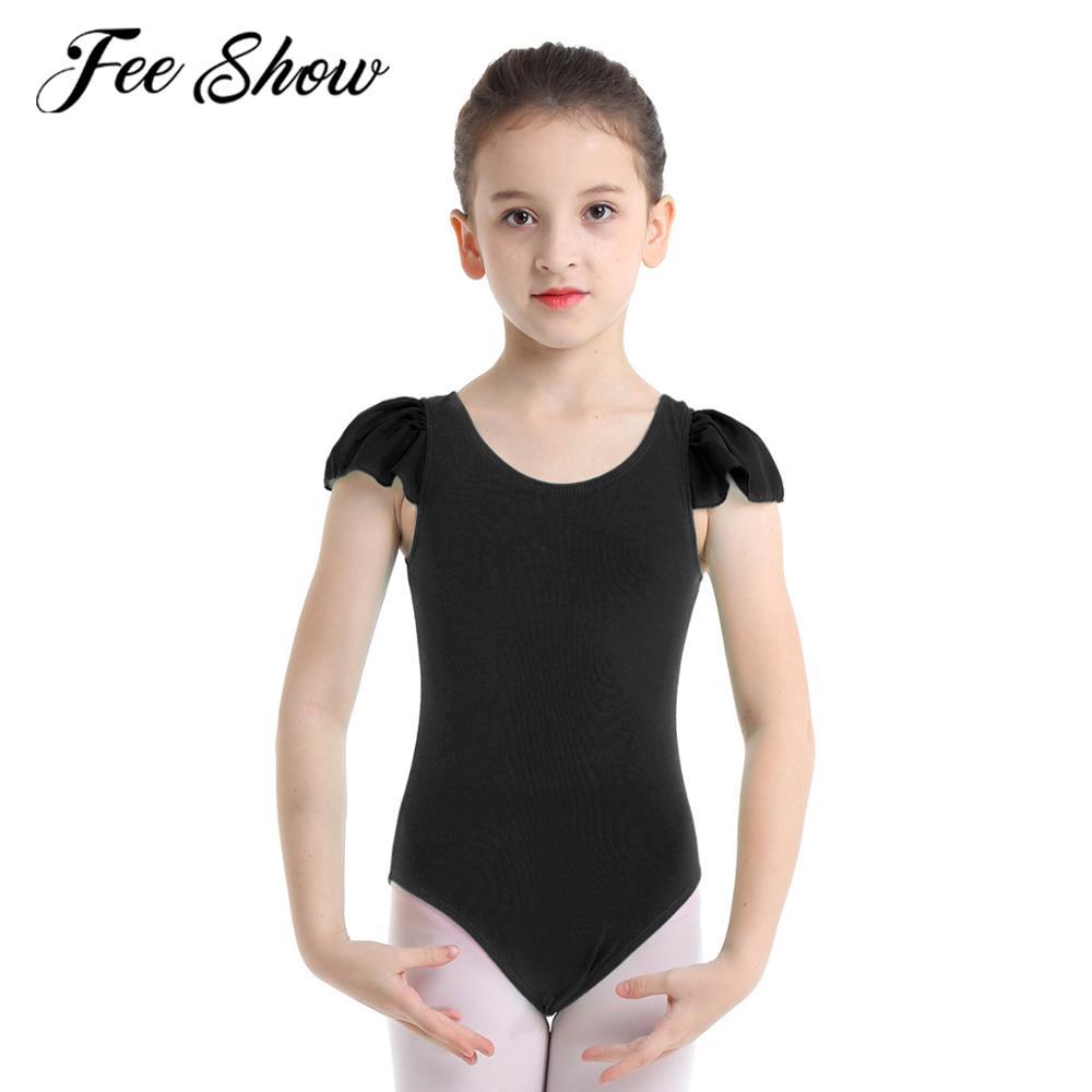Girls Kids Gymnastics Spaghetti Strap Ballet Dancer Leotard Dancewear Size 2-12
