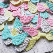 Wholesale 20pcs Glitter Wings Patches Solid Candy Accessories For Cloth Handmade Hairbows Materials Applique DIY Crafts Supplies