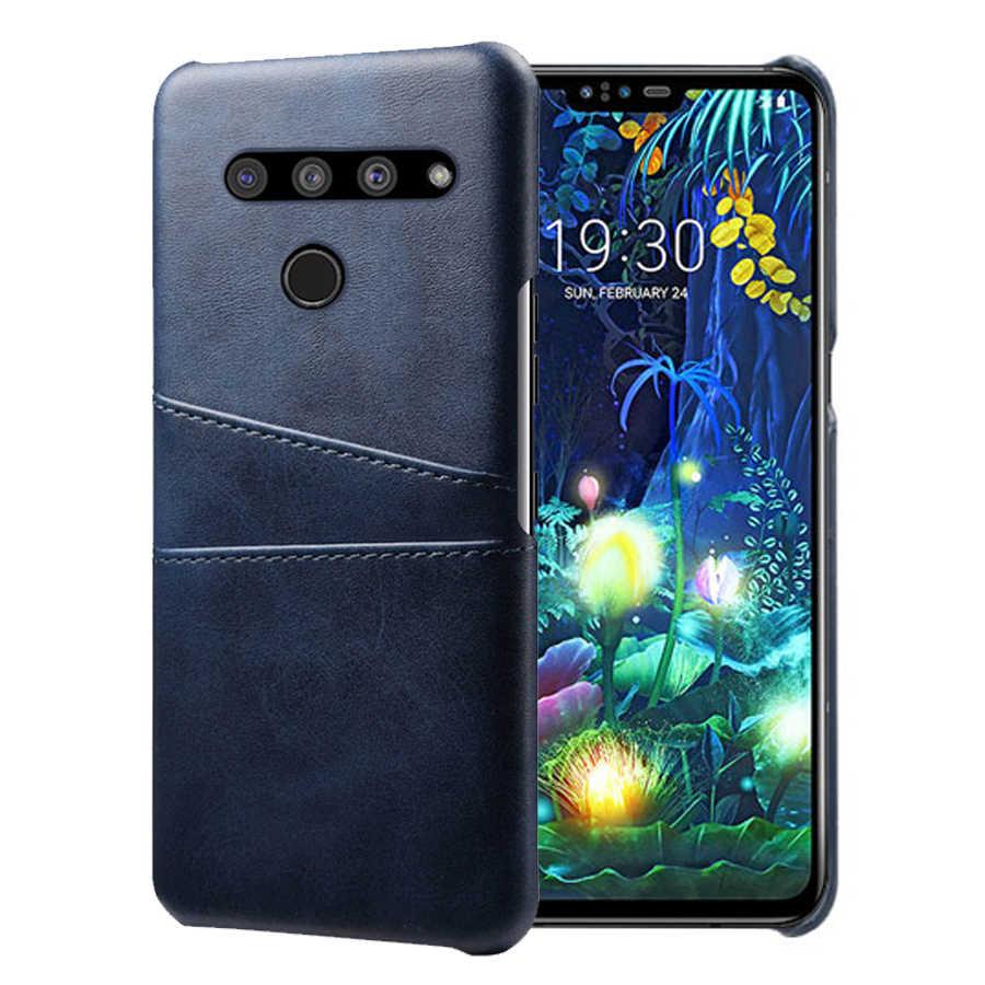 SCK หนังช่องใส่การ์ดสำหรับ LG V50 ThinQ V40 V30 V20 V10 G8 G7 G6 G5 V50S thinQ G8X ThinQ กรณีฝาครอบโทรศัพท์