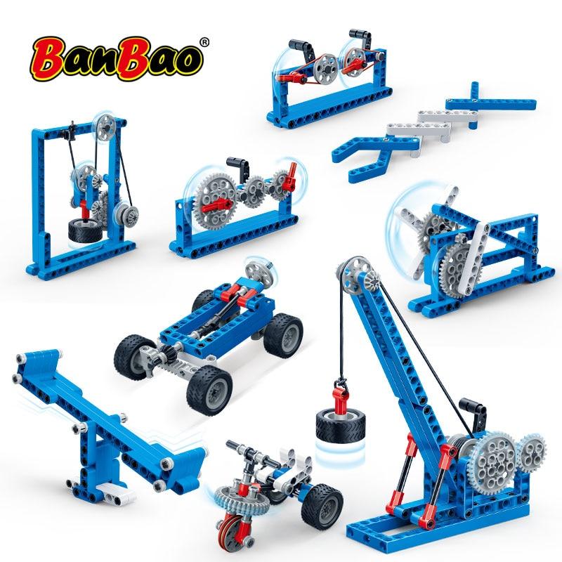 BanBao Building Blocks Power Machine Leverage LEGOend Technic Experiment Bricks Educational Model Toys For Children Kids Gift