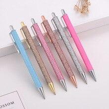 Мода блеск пресс шариковая ручка бизнес офисный знак студенческие ручки письма школьные ручки канцелярские принадлежности