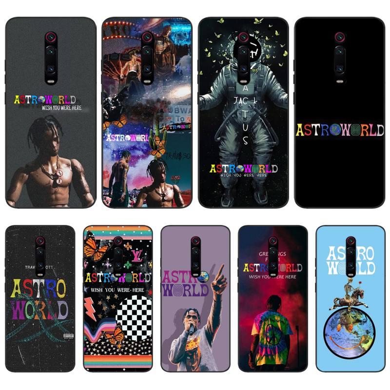 Travis Scotts Astroworld Phone Case For Xiaomi Redmi 7 8 9 9s Pro Coque Silicone Cover