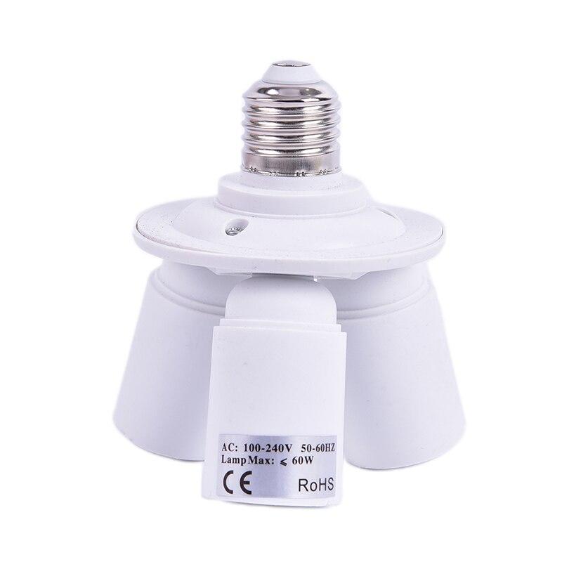 3 In 1 E27 Base Socket Splitter Light Lamp Bulb Adapter Holder Converter