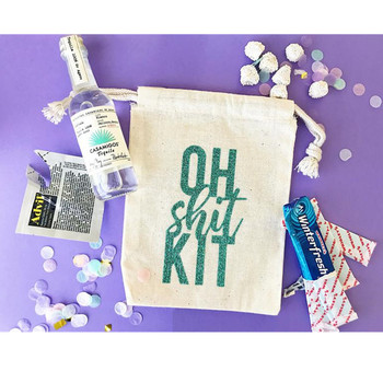 цена на pesonalized OH SHIT KIT bag bachelorette survival kit bags bridesmaid hangovers kit bag hen weekend favor welcome bag emergency
