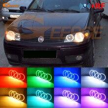 цена на For Fiat Albea 2005-2012 Excellent led Angel Eyes kit Multi-Color Ultrabright RGB LED angel eyes Halo Rings kit