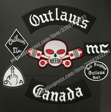 Outlaws Hells แพทช์แคนาดาปัก(China)