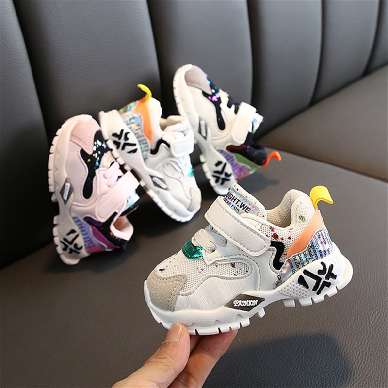 DIMI 2019 Spring/Autumn New Baby Sneakers Toddler Shoes For Girl Boy Mesh Breathable Infant Shoes Soft Non-slip First Walkers