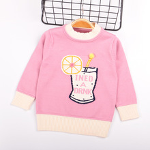 Свитер для девочек в Корейском стиле; детская одежда; Детский свитер с длинными рукавами; осенний стильный свитер; детский базовый свитер