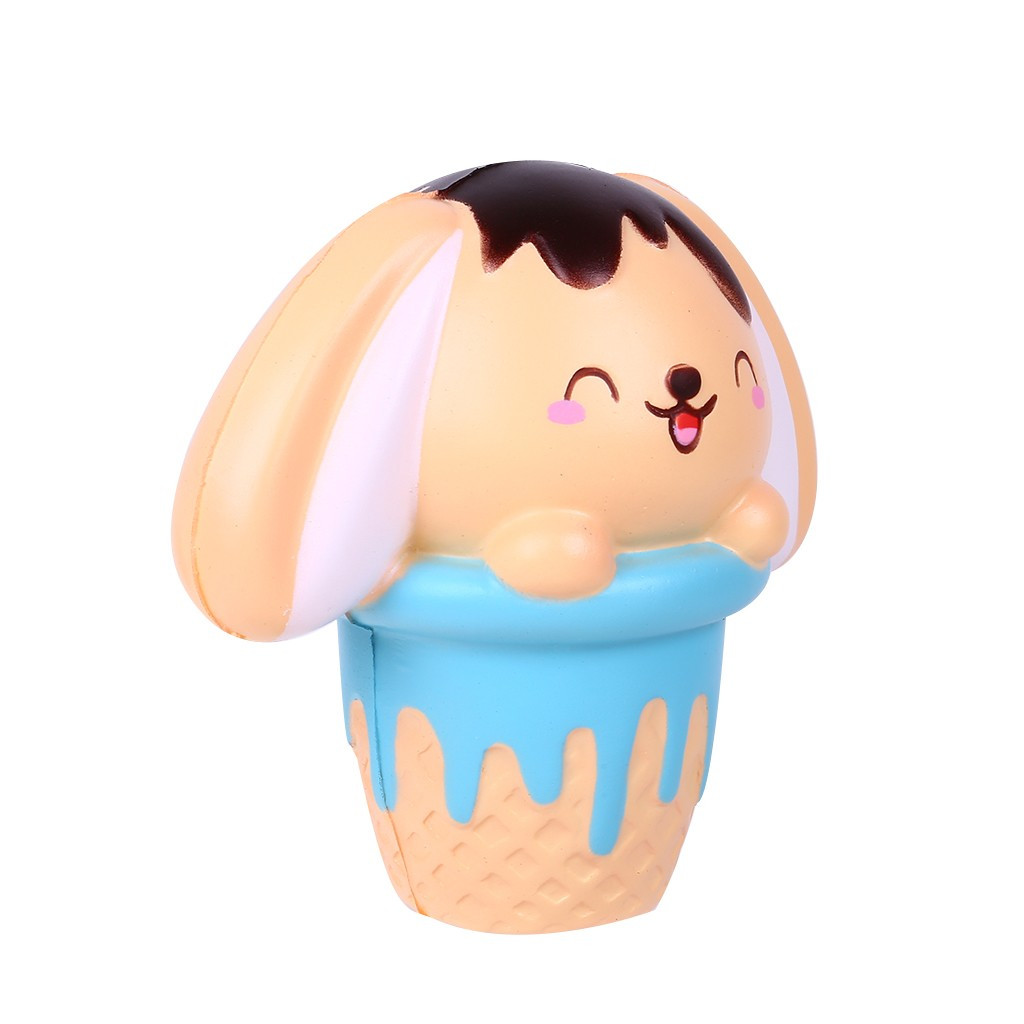 New Mini Adorable Puppy Cone Slow Rising Scented Stress Reliever Toys Funny Stress Squishy Toys For Children Antistress #B
