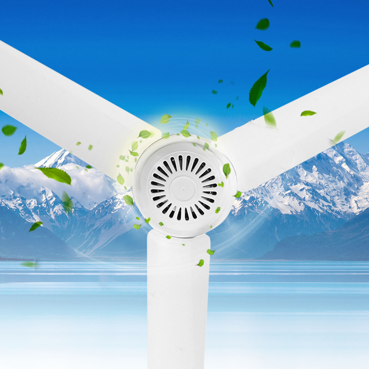 Environmental-friendly 12V 6W Solar Ceiling Fan Solar Powered Cooling Fans Small Air Conditioning Appliances