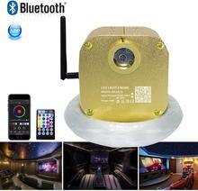 Kit de iluminación de techo estrella con luz centelleo, fibra óptica con Bluetooth, 16W, RGBW, mezcla (0,75 + 1,0 + 1,5mm), 335 hebras con mando a distancia de 28key