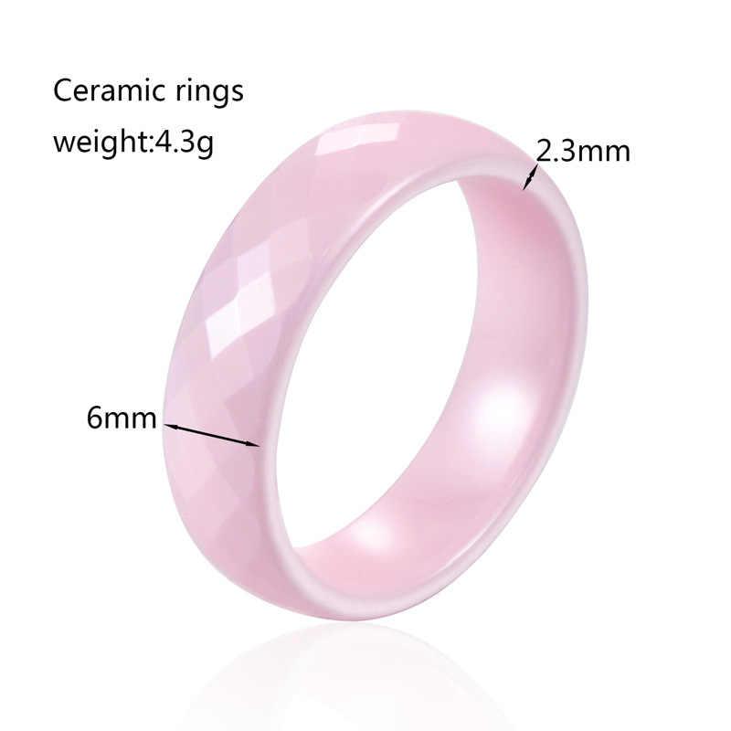 TIGRADE 4/6mm czarny pierścień ceramiczny dla kobiety mężczyzna różowy ręcznie cięte Top wysokiej jakości biżuteria bez zadrapań kobiet pierścienie dla alergików