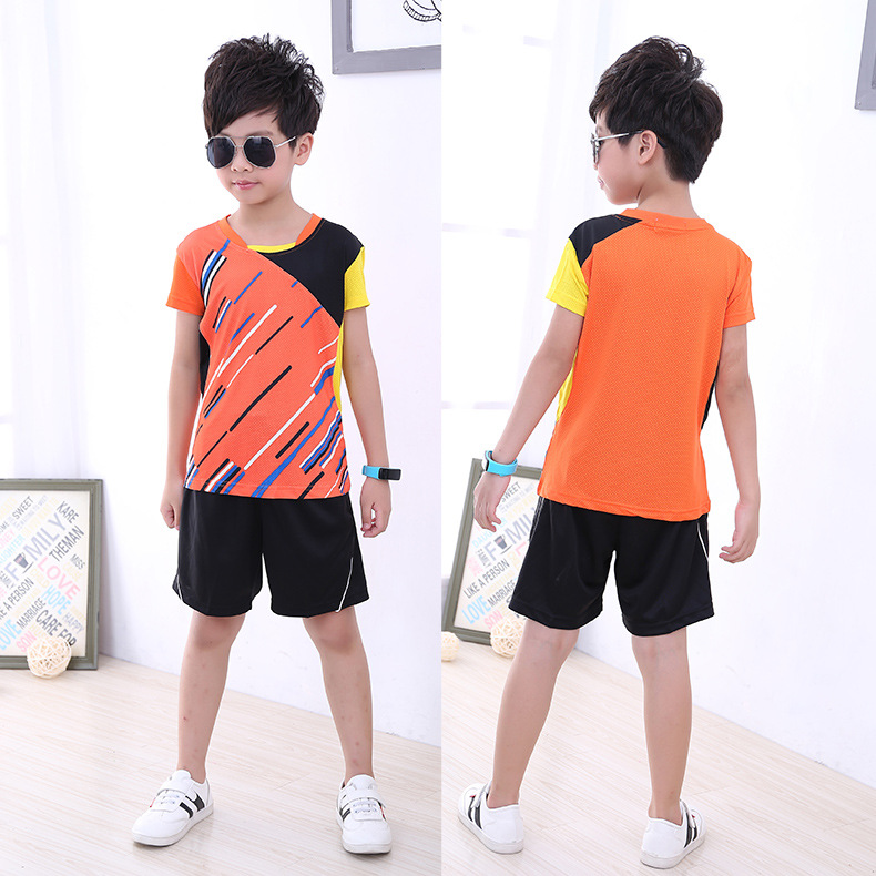 Hot Selling Short Sleeve Table Tennis Wear Set Men And Women Children Sports Jersey Customizable Export Game Training Suit Tenni