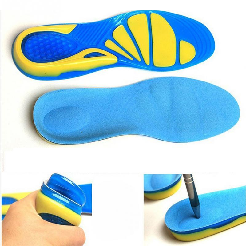 Silicone orthotic insoles pads for shoes heel cushion foot plantar fasciitis relieve heel pain shock absorption shoe pad image