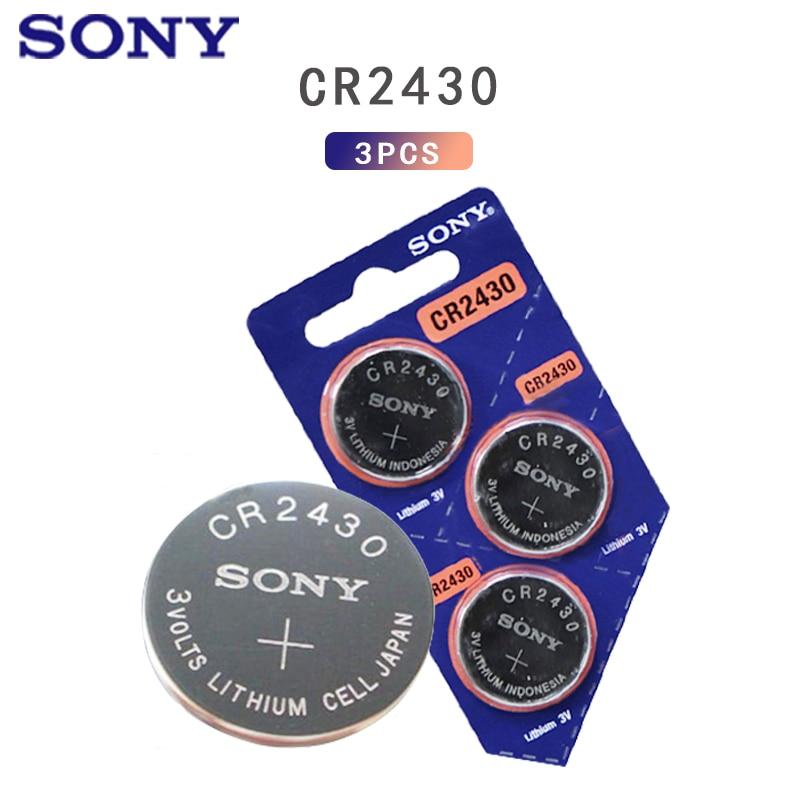 3 шт. оригинальный Sony CR2430 DL2430 CR 2430 3V литиевая батарея для умных часов, наушников, игрушечных шкал, часы, слуховые аппараты, Кнопка монета