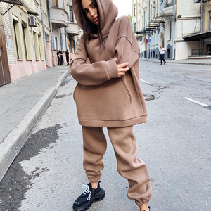 Malina Casual Solid Hooded Sweatshirts Suits Women Fashion Casual Loose Suit Women Elegant Loose Pants Suits Female Ladies II