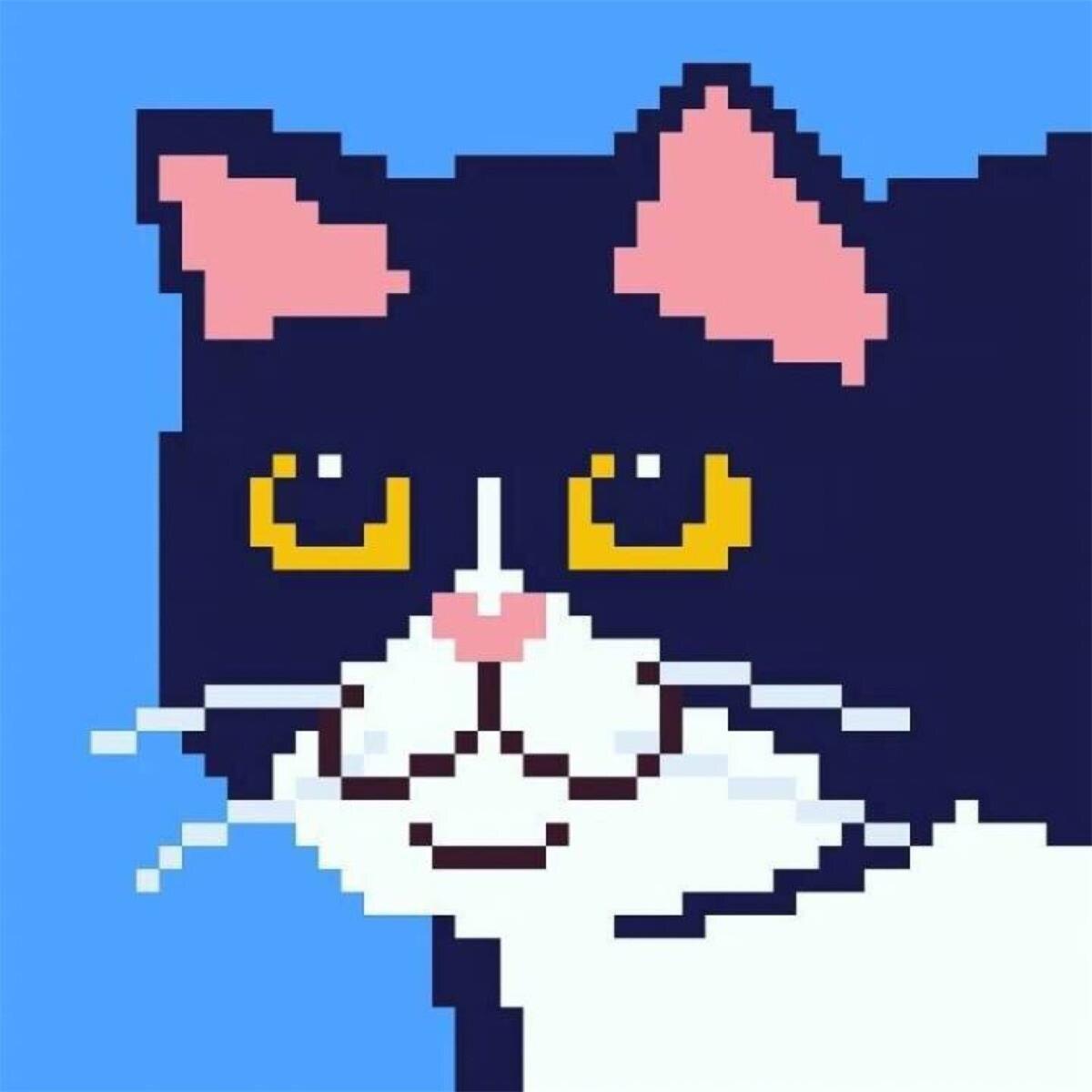 像素猫高清情侣头像 第20张