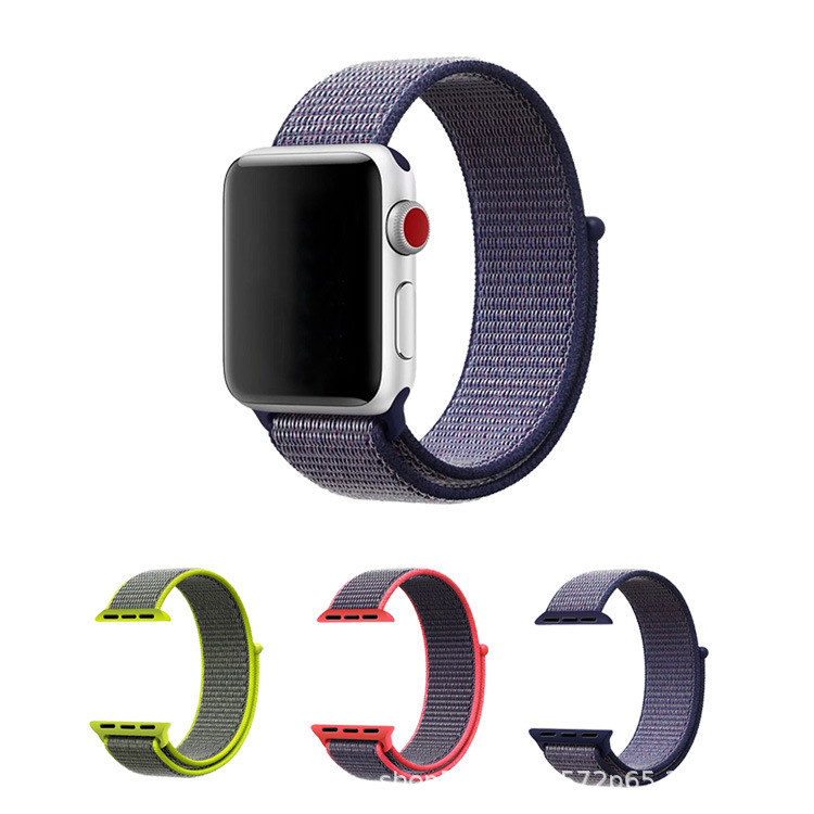 Suitable For Apple Watch 1/2/3 Three Generations Universal Nylon Loop Velcro Sports Style Watch Strap