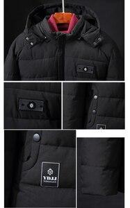 Image 4 - בתוספת גודל 9XL 4XL עבה מרופד Parka גברים חורף מעיל חדש אופנה סלעית מעיל רב כיס חם הלבשה עליונה זכר מזדמן בגדים