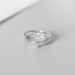 Женское серебряное кольцо SODROV 925 пробы, маленькое квадратное кольцо с бриллиантом