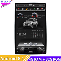 12.8 IPS Screen Android 8.1 Car Radio Tesla style 2 Din GPS Navigation Auto radio For Honda Ford Hyundai VW Toyota Kia Nissan