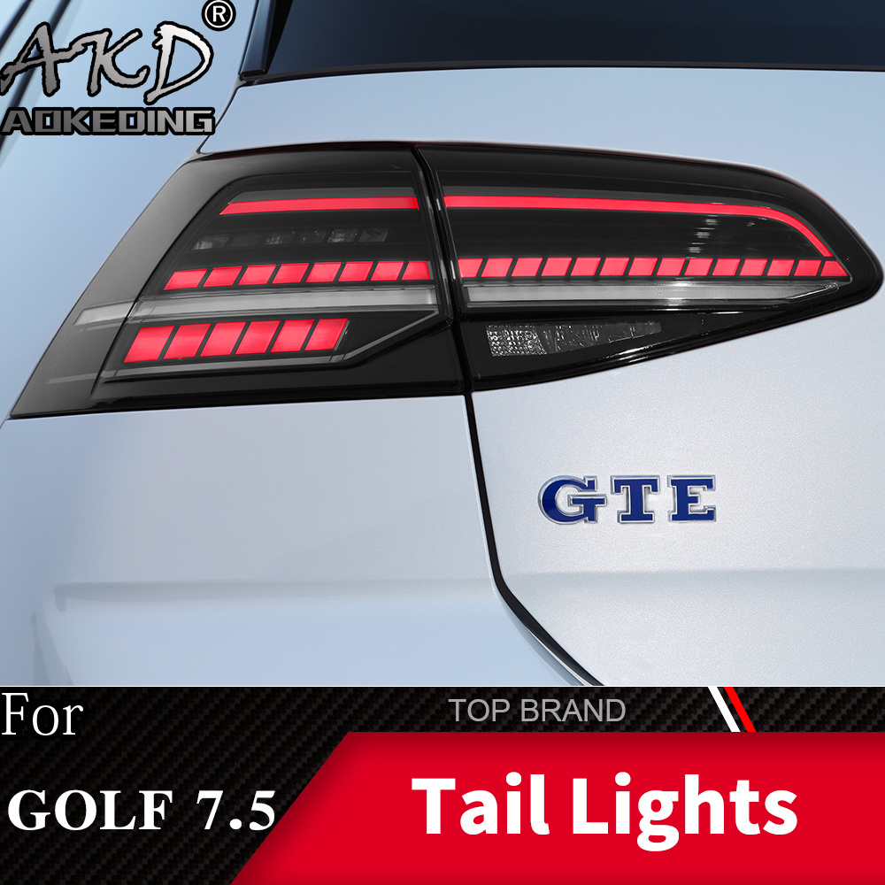 Car Styling Tail Lamp For VW <font><b>Golf</b></font> <font><b>7</b></font> <font><b>Golf</b></font> <font><b>7</b></font>.5 MK7.5 2017-2019 <font><b>LED</b></font> Tail <font><b>Light</b></font> Rear Lamp DRL Dynamic Signal Brake Auto Accessories image