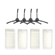 4Pcs Filter 4Pcs(2R+2L)Side Brush for Ecovacs Cr130 Cr120 X500 X580 Kk8 Cen540 Cen250 Ml009 Chuwi V3 Ilife V5 V3+V5Pro Vacuum 100pcs vacuum cleaner filter for chuwi v3 ilife x5 v5 v3 v5pro panda x500 dibea x500 x600 ecovacs cr120 cleaner parts