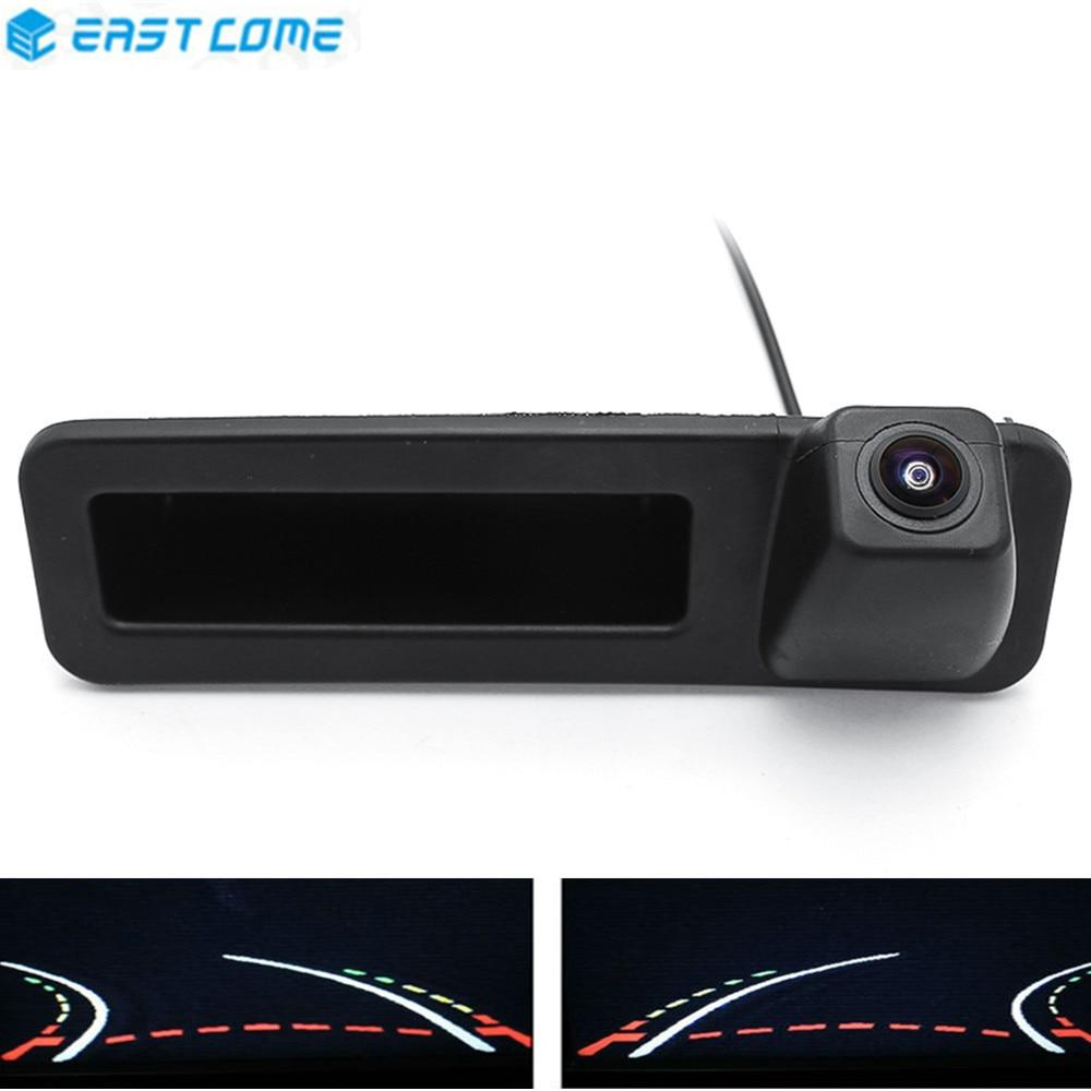 1080P Trajectory Tracks Trunk Handle Car Rear View Camera For BMW X1 X3 X4 X5 F30 F31 F34 F07 F10 F11 F25 F26 E84 Reverse Camera