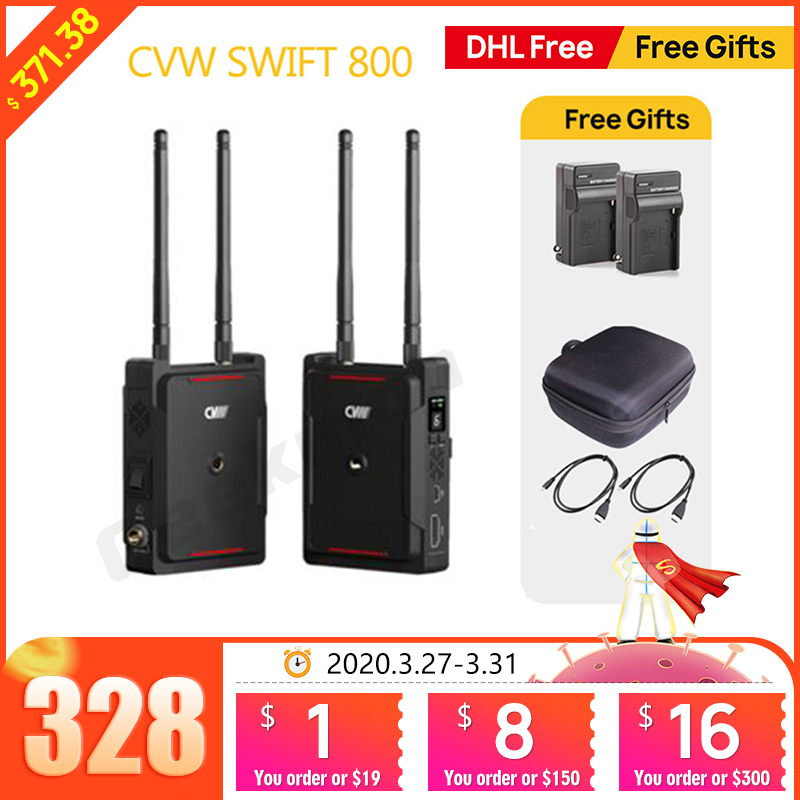 CVW SWIFT 800 800ft Wireless Video Transmission System HDMI HD image Wireless Transmitter Receiver Support smartphone MonitorPhoto Studio Accessories   -