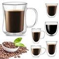 Бутылка для воды Кофе чашки термостойкие двойными стенками Стекло пивной бокал, Кубок ручной молоко чашка для лимонного сока посуда Чай кру...