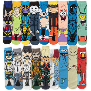 Socks Marvel Mickey-Mouse Cosplay Print Anime Adult Knee-High Star-Wars Women's New Mans