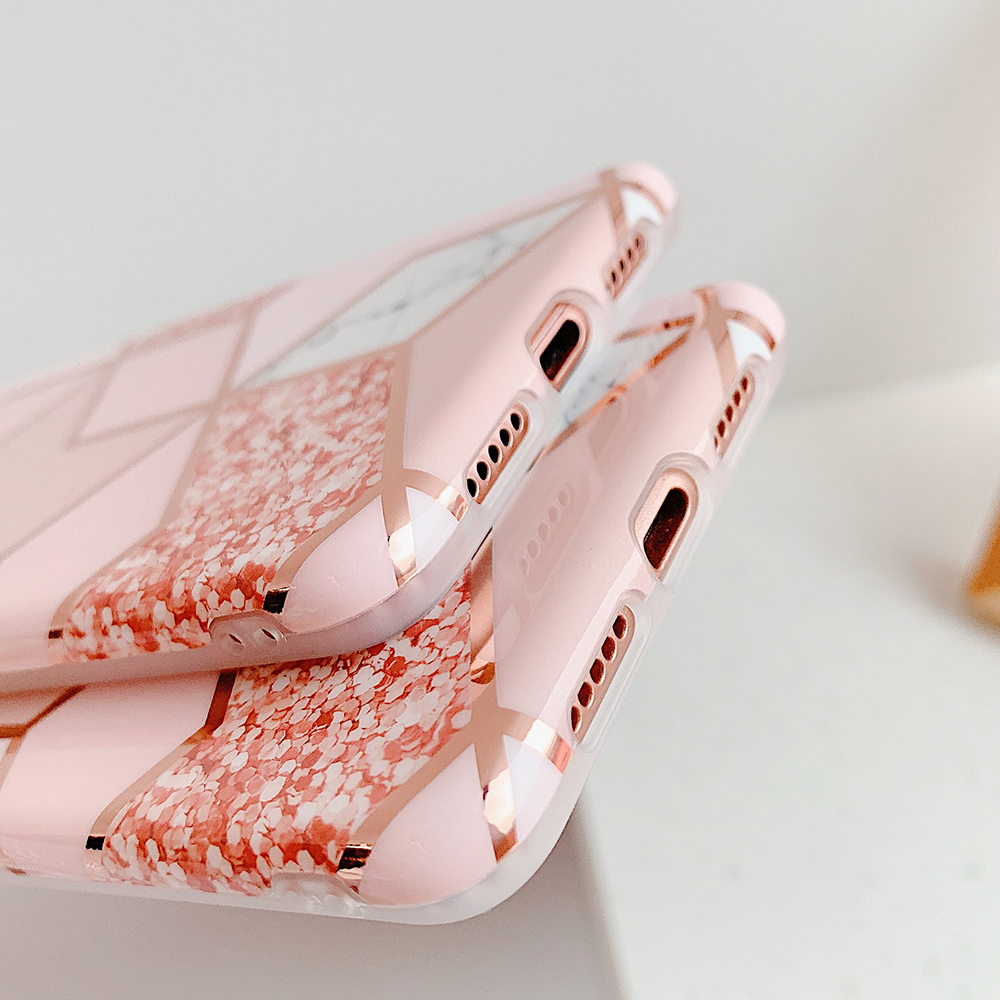H4cca8be1915a46939ea42ff616351c89o - LOVECOM Plating Geometric Marble Phone Case For Huawei P40 Pro P30 P20 Lite Pro Mate 30 20 Lite Glossy Soft IMD Phone Back Cover