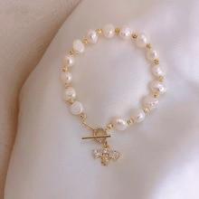 Даньшуй жемчуг микро инкрустация циркон пчела браслет продвинутый роскошный браслет модный простой браслет для женщин