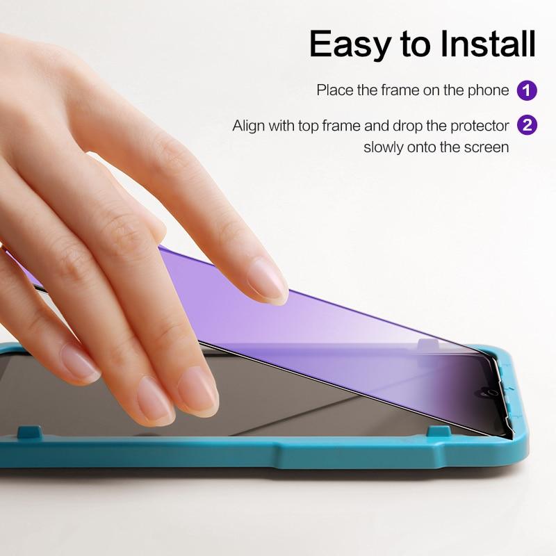SmartDevil Tempered Glass for Xiaomi Mi 10 Pro K20 Screen Protector for Xiaomi Mi 8 Li 9T Pro 9 SE Global Version Blue Light
