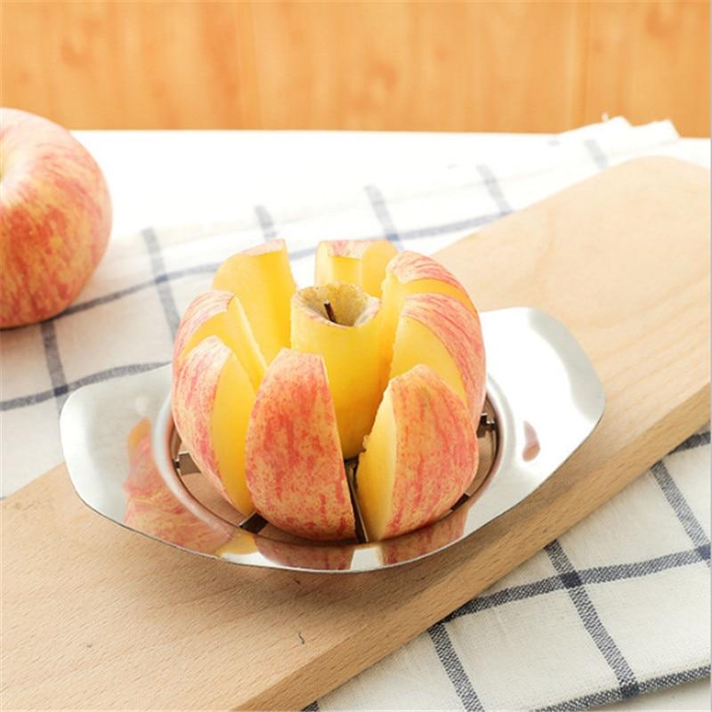 Нож для яблок из нержавеющей стали, слайсер, кухонные аксессуары, яблоко, легко режется, фруктовый инструмент, Картофельная нарезка для карт...