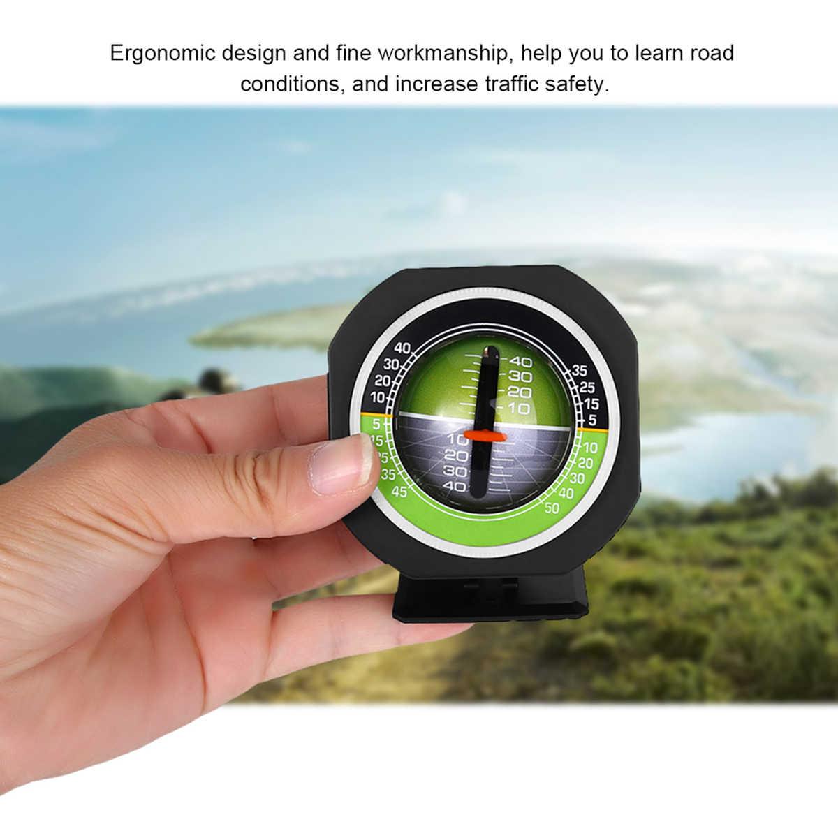 Dekorasi Mobil Kompas Presisi Tinggi Built-In LED Auto Kemiringan Level Meter Mobil Kendaraan Decoction Gradient Inclinometer Sudut