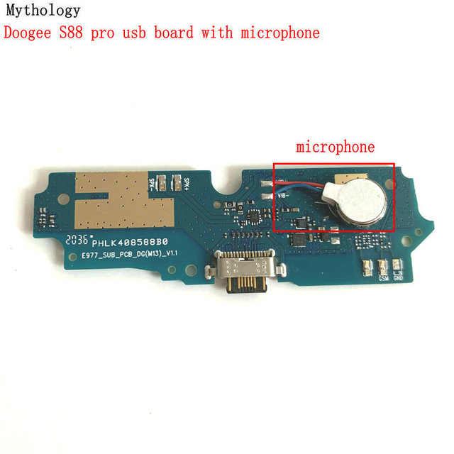 """Mythology For Doogee S88 Pro USB Board & Microphone Flex Cable Dock Connector 6.3""""Mobile Phone Charger Circuits"""