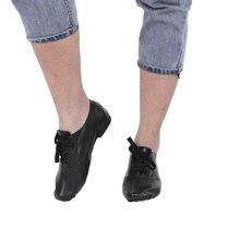 Детская танцевальная обувь из искусственной кожи с мягкой подошвой для взрослых, джаз, черная обувь низкого покроя, Детская Нескользящая танцевальная обувь, танцевальная одежда, размер 28-45