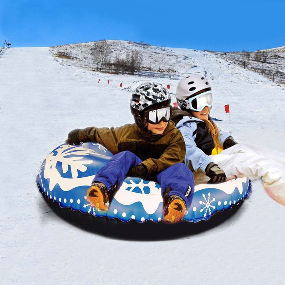 Floating Board 47 Inch Environmental Protection PVC Inflatable Snow Ring Ski Children Adult Outdoor Toy Car