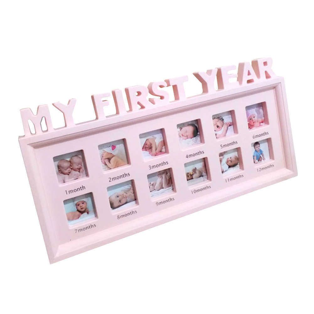12 Months Desktop Show Infant Display PVC Ornaments Picture Photo Frame My First Year Multifunctional Newborn Baby Girls Boys
