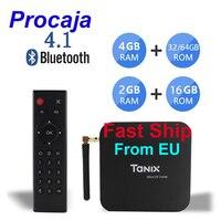 Procaja Tanix TX6 TV Box Android 9,0 2G/4G RAM 16G/32G/64G ROM 4K TV Allwinner H6 H.265 Dekodierung 2,4G/5G Box