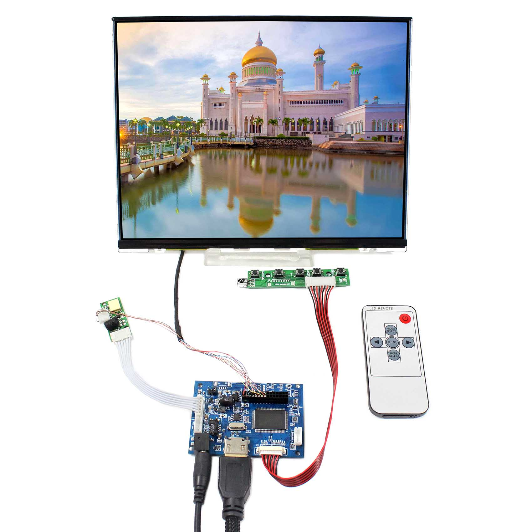 "10.4"" ips LCD  1024x768  Screen  LTD104EDZS  with HDMI controller board"