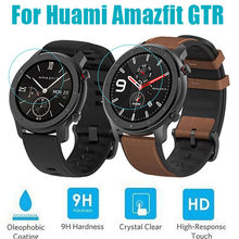 2PCS/LOT Anti-sratches Screen Protector For Huami Amazfit GTR 42mm 47mm Watch Tempered Glass Screen Protective Film(China)