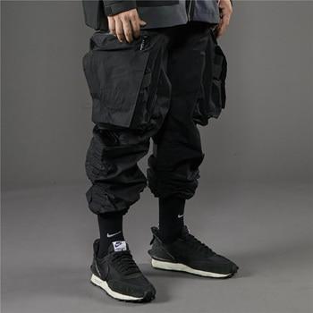 PUPIL TRAVEL PT-1932 Techwear Cargo Pants Drawcord Waist Hip Hop Style Joggers INS Punk Fashion 1