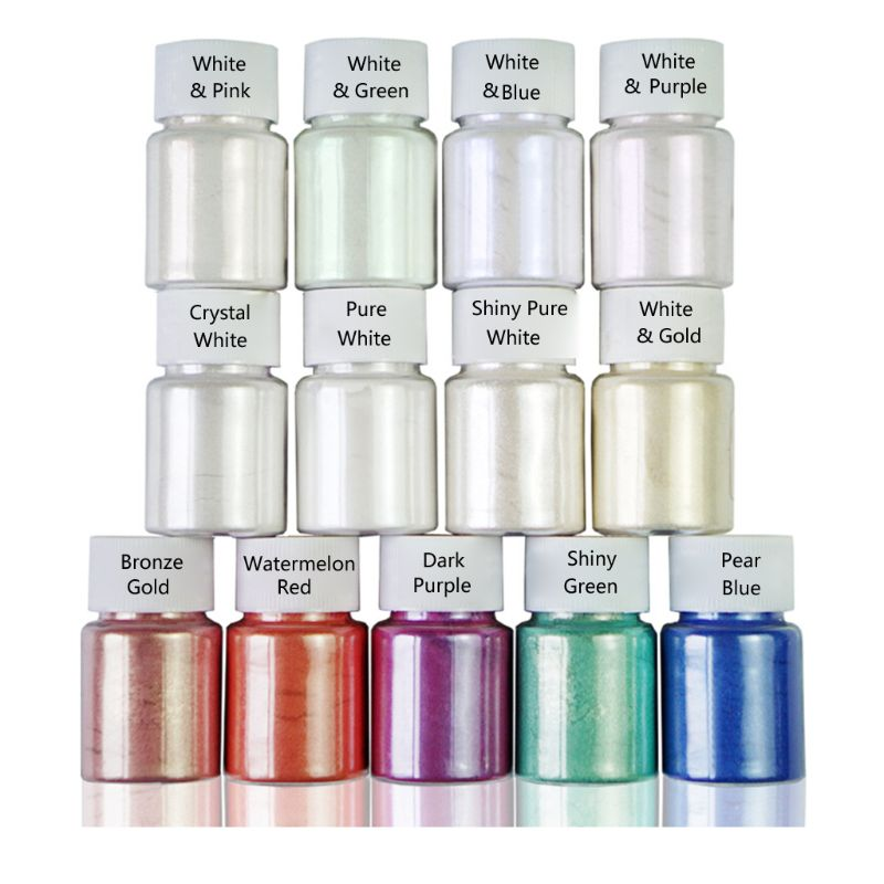 10 G Resin Dye Powder Mica Pearl Pigments Colorants Crystal Mud Resin Jewelry Making Acrylic Paints