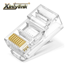 xintylink rj45 connector ethernet cable rg rj 45 Plug Cat5 Cat5e jack utp unshielded Network Modular conector 8p8c lan keystone