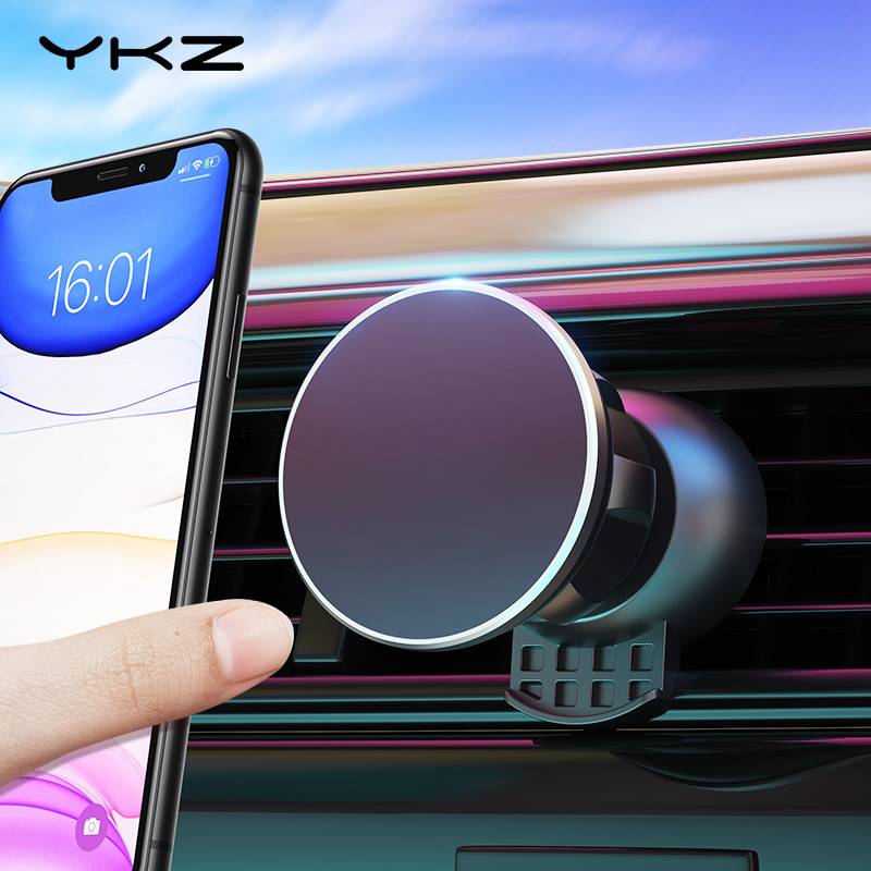 YKZ Magnetic Car Holder Air Vent Mount GPS Mobile Phone Magnet Car Holder  Stand For IPhone X Samsung Universal Car Phone Holder