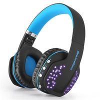 Bluetooth Headphones with Mic Q2 Foldable Noise Cancelling Over Ear Headset for iPhone iPad Android Smartphone Wireless Headset